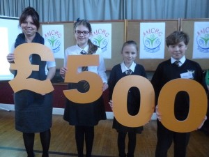 Pupils from Moffat Academy Primary Team celebrate their win
