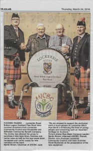 ANCBC Lockerbie Pipe Band