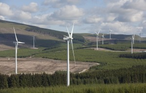 Harestanes wind farm opening. Picture by Chris James 1/7/14